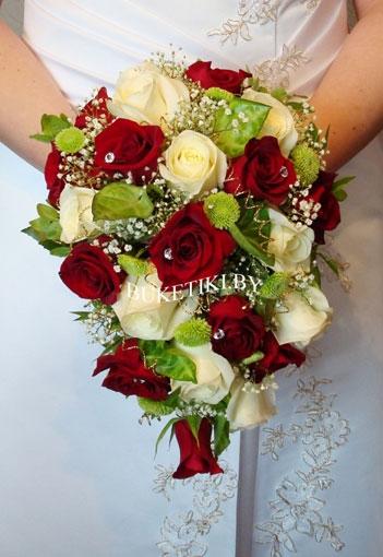 Каскадные свадебные букеты невесты